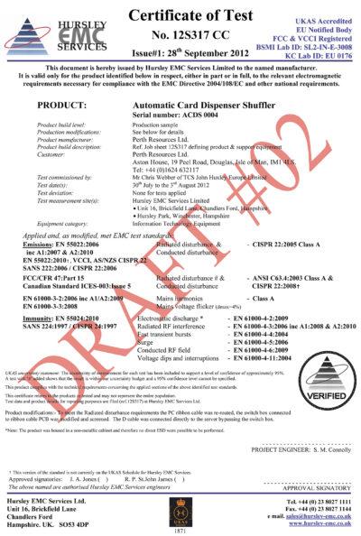 Пример одного из сертификатов (предварительный текст документа) на продукцию компании «Модуль 98»
