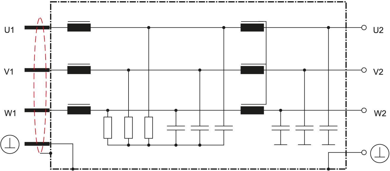 Электрическая схема с использованием технологии EPCOS SineFormer