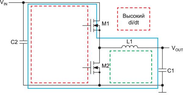Схема синхронного понижающего стабилизатора