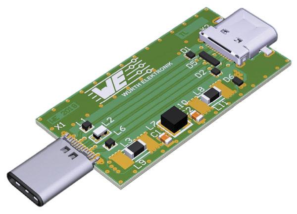 Адаптер USB Type-C (Dongle), использованный для демонстрации фильтрации и защиты порта USB 3.1