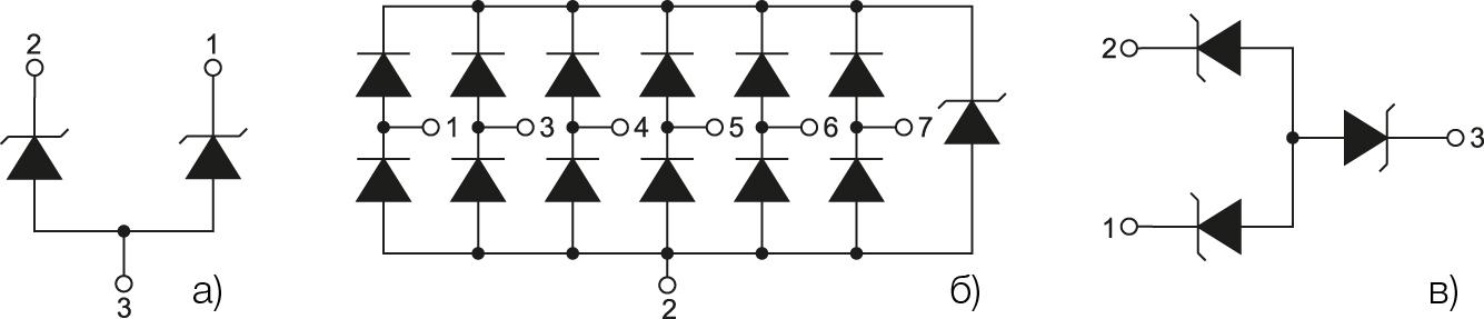 Внутренняя структура отдельных защитных устройств серии RailClamp
