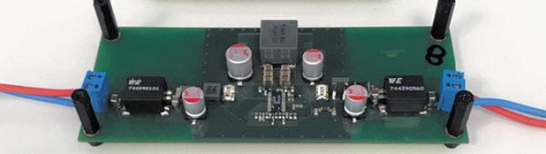 Демонстрационная плата для повышающе-понижающего DC/DC-преобразователя мощностью 100 Вт