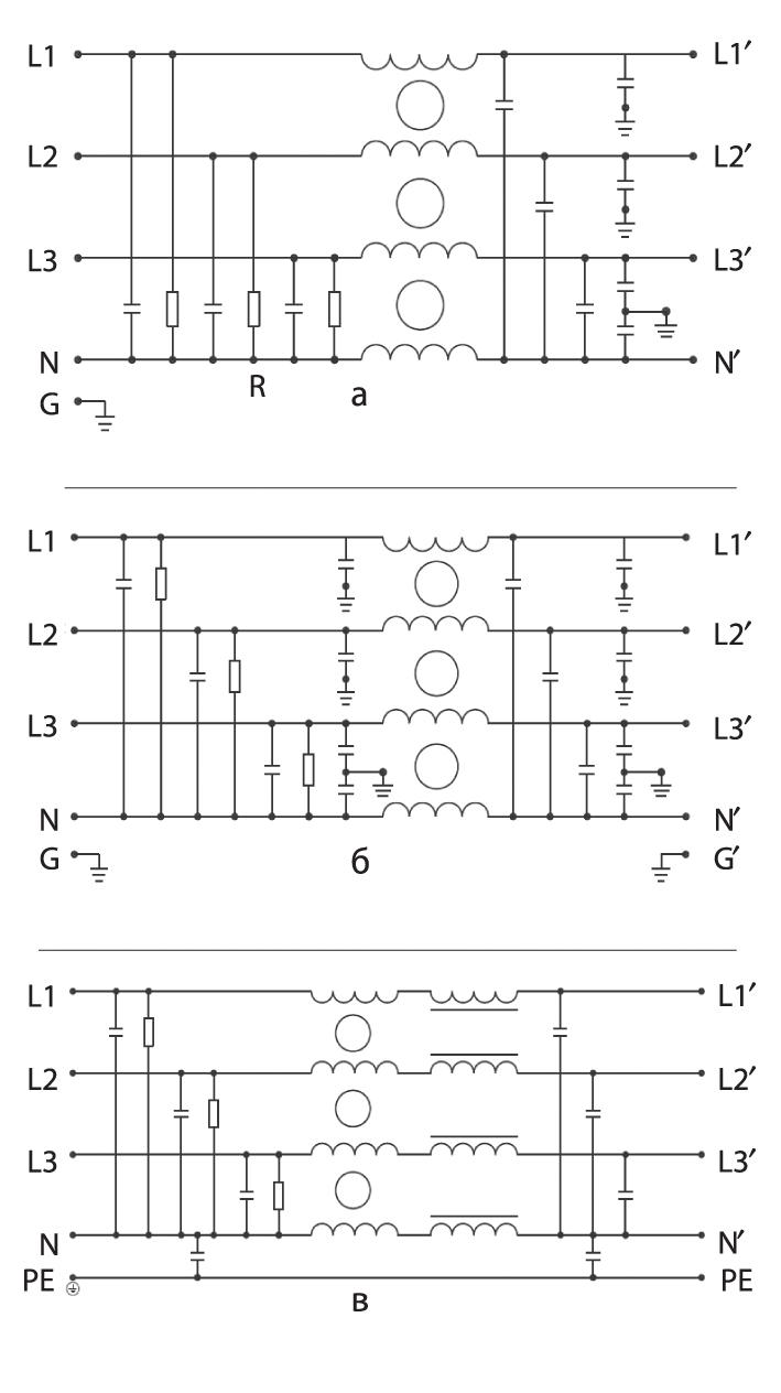 Принципиальные электрические схемы фильтров ФП4100