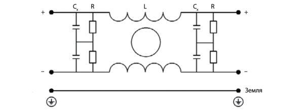 Принципиальная электрическая схема фильтра ФП5300