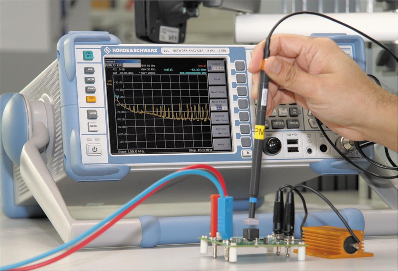 Общий вид испытательной установки для изучения неэкранированных, полу и полностью экранированных индуктивностей