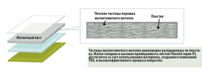 Поперечный (схематичный) разрез магнитного листа