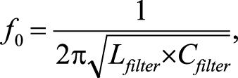 резонансная частота LC-фильтра описывается следующим выражением