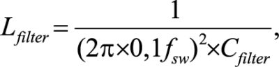 Индуктивность фильтра при заданной емкости определяется как