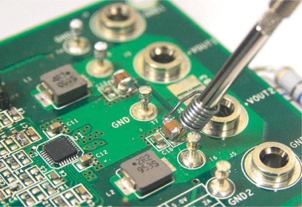 Корректное подключение пробника осциллографа к выходному конденсатора сглаживающего фильтра