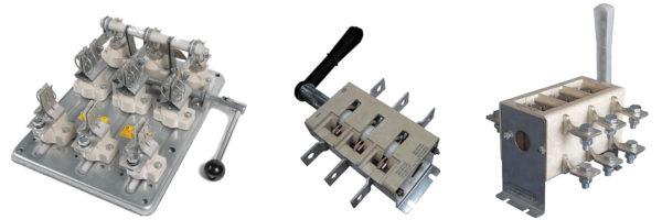 Мощные трехполюсные рубильники с видимым разрывом цепей