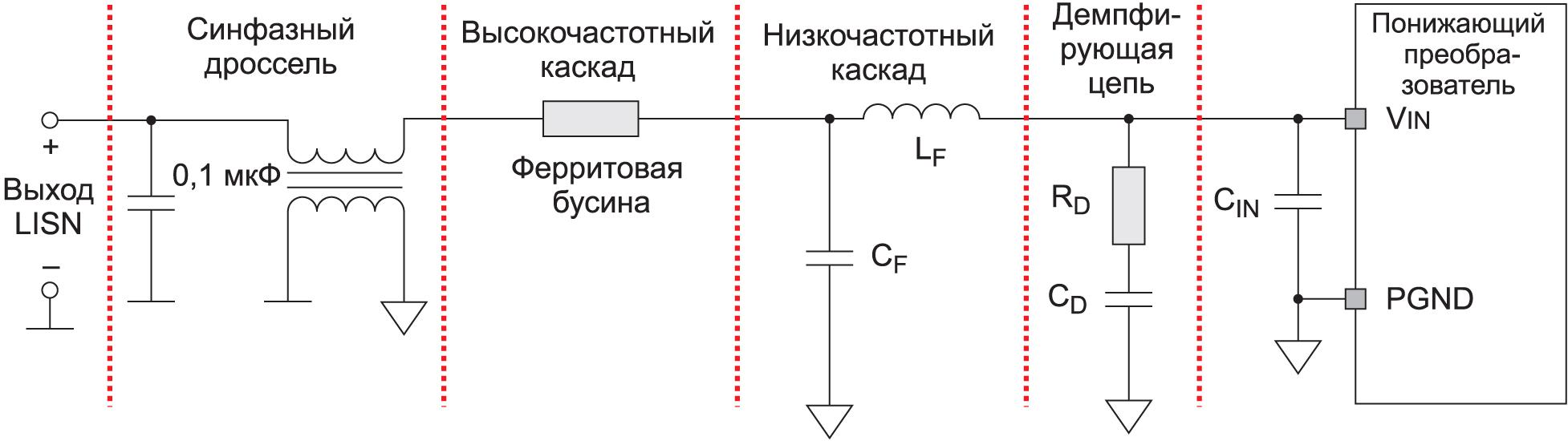Схема ЭМП-фильтра