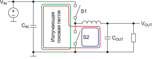 два «горячих» токовых контура в типовых понижающих DC/DC-преобразователях