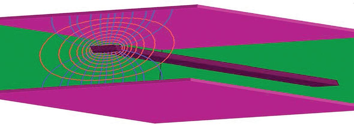 Электромагнитная связь между проводником и его опорными слоями