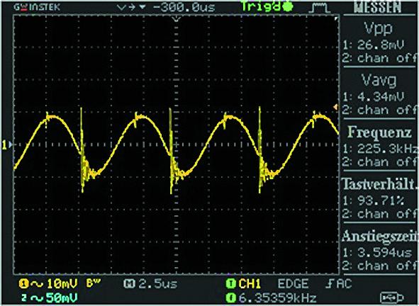 Сигнал Ripple&Noise типичного преобразователя постоянного напряжения