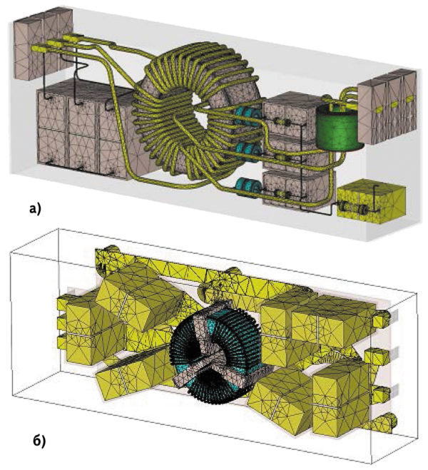 3D-модели фильтров подавления ЭМП, используемые для МКЭ-моделирования