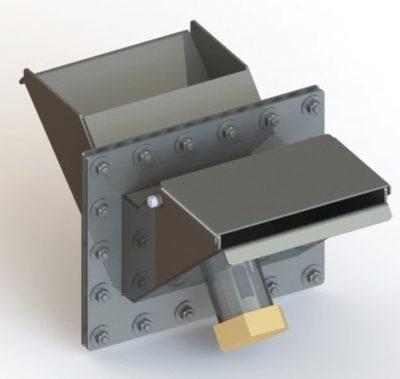 Дробнозасыпной фильтр для ввода в экранированную камеру электрокабеля
