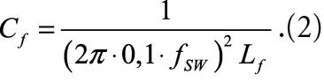 Частота среза LC-фильтра пример формула