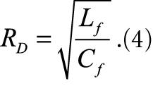 Величина резистора RD аттенюатора при добротности фильтра Qf = 1 формула