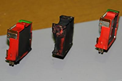Модульные устройства защиты, вышедшие из строя на объекте «Ростелеком»