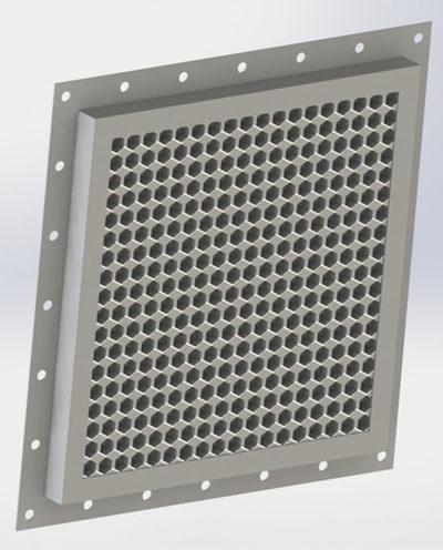 Вентиляционный фильтр сотового типа для бехэховых камер