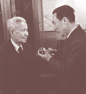 Изобретатели ферритов Йогоро Като и Такеши Такеи