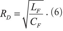 расчета сопротивления затуханию RD при добротности фильтра QF = 1