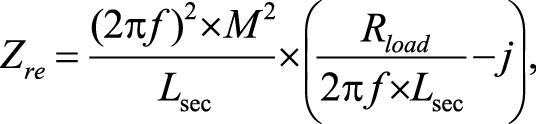 формула Отраженный импеданс спараллельной компенсацией