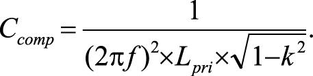 формула Дополнительная компенсирующая емкость приемника