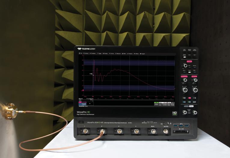 Осциллографы высокого разрешения серии WavePro HDR для испытаний на ЭМС